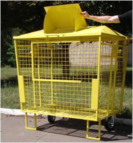 Бак для мусора сетчатый 1,1 м3. Производство Украина. Цена 2350,00 грн. тел. 044 578-25-48