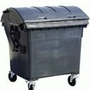 Контейнер для мусора пластиковый 1100 литров с полукруглой крышкой, в Киеве 044 578-25-48